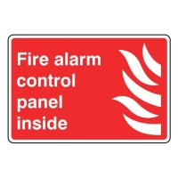 Fire alarme control panel inside