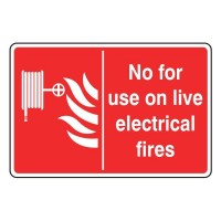 Not for use on live electrical fires