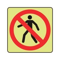 No pedestrians logo