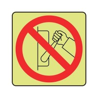 Do not touch this switch logo
