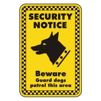 Security Notice Beware of guard dogs