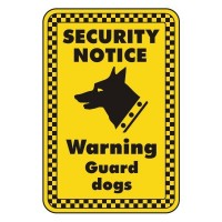 Security Notice Warning guard dogs