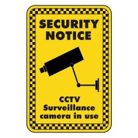 security notice CCTV surveillance cameras in use