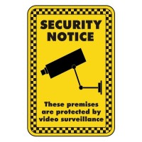 security notice these premises are protected by video surveillance
