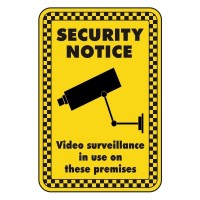 security notice video surveillance in use on these premises