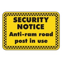 security notice anti-Ram Road post in use