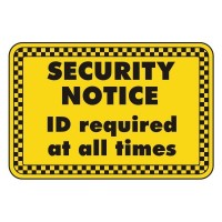security notice ID required at all times