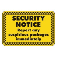 security notice report any suspicious packages immediately