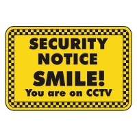 security notice smile you are on CCTV