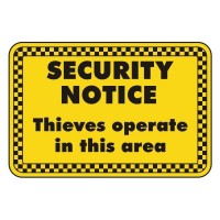 security notice thieves operate in this area