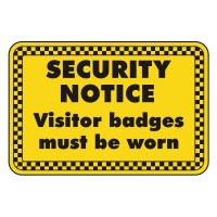 Security Notice visitor badges must be worn