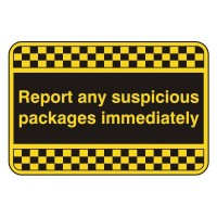 Report any suspicious packages immediately