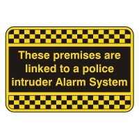 These premises are linked to a police intruder alarm system