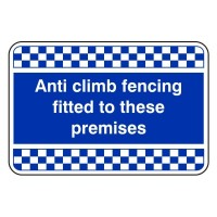 Anti-climb fencing fitted to these premises