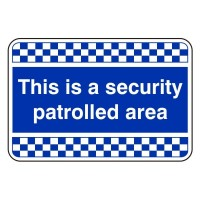 This is a security patrol area