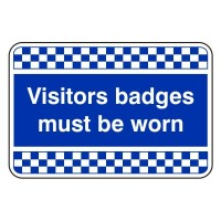 Visitors badges must be worn