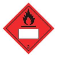 Flammable 2 UN Substance Numbering Hazard Sticker