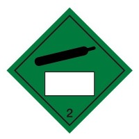 Compressed Gas 2 UN Substance Numbering Sticker
