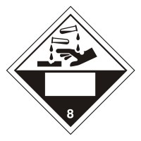 Corrosive 8 UN Substance Numbering Sticker