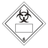 Bio Hazard 6 UN Substance Numbering Sticker