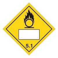 Oxidizer 5.1 UN Substance Numbering Sticker