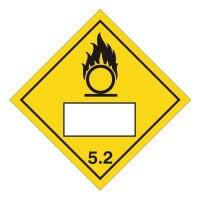 Oxidizer 5.2 UN Substance Numbering Sticker