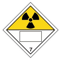 Radioactive 7 UN Substance Numbering Sticker