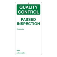 Passed Inspection