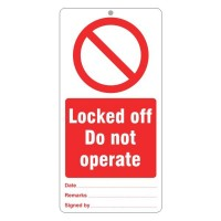 Locked off Do not operate