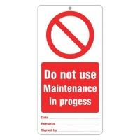 Do not use Maintenance in progress