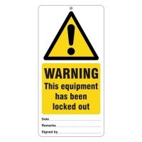 Warning This equipment has been locked out