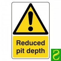Reduced pit depth