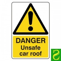 Danger unsafe car roof