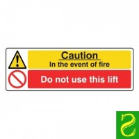 Caution. In the event of fire