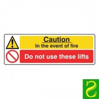 Caution in the event if fire. Do not use these lifts