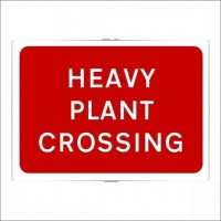 Heavy plant crossing