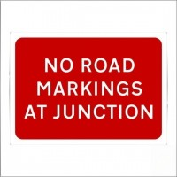 No road markings at junction