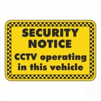 CCTV operating in this vehicle