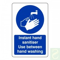 Instant hand sanitiser use between hand washing