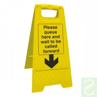 Please queue here and wait to be called forward