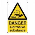 Danger Corrosive substance