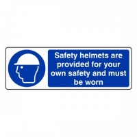 Safety helmets are provided for your own safety and must be worn