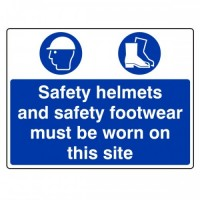 Safety helmets and safety footwear must be worn on this site