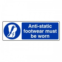 Antistatic footwear must be worn