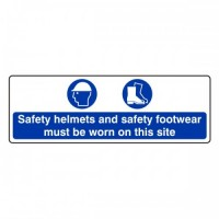 Safety helmets and safety footwear must be worn on the site