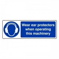 Wear ear protectors when operating this Machinery