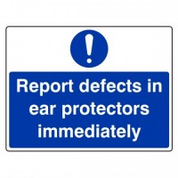 Report defects in ear protectors immediately