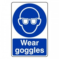 Wear goggles
