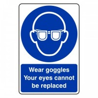 Wear goggles your eys cannot be replaced