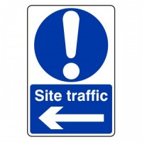Site traffic arrow left